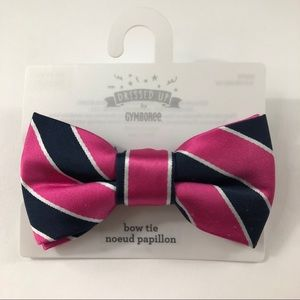 Gymboree Dressed Up Pink Blue White Stripe Bow Tie